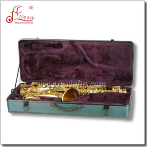 Gold Lacquer Bb Key Student Tenor Saxophone pictures & photos