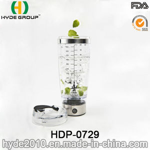 600ml Customized Portable Plastic Vortex Protein Bottle, Electric Protein Shaker Bottle (HDP-0729) pictures & photos