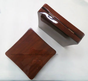 Brown Wood Glossy Finish Jewelry Set Box pictures & photos