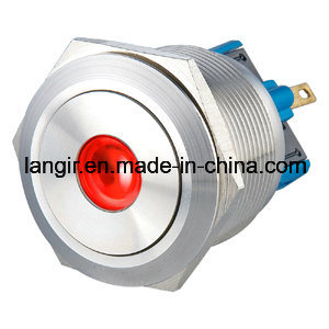 25mm 12 Volt Latching 1no1nc DOT Illuminated Stainless Steel Push Button Switch pictures & photos