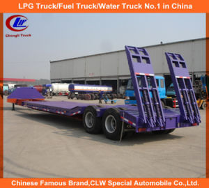 Low Bed Semi-Trailer for 40ton Machinery Lowboy Trailer pictures & photos