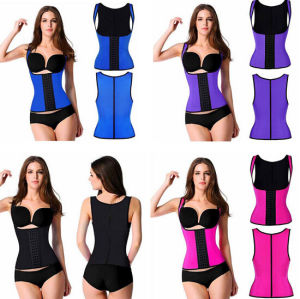 Women′s Sexy Latex Steel Boned Waist Trainer Corset (T8332) pictures & photos