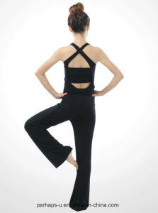 High Quality Women Cross-Back Fitness Wear Yoga Suit Athletic Clothes pictures & photos