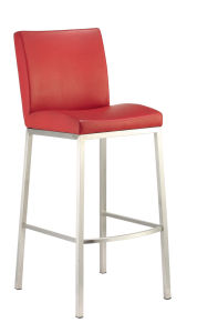 Hotel PU High Back Mould Foam Bar Stool pictures & photos