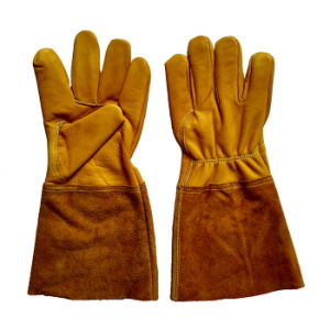 Golden Cow Grain Leather Safety TIG Welding Gloves pictures & photos