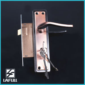 154 Aluminum Handle Iron Plate Door Handle Lock pictures & photos