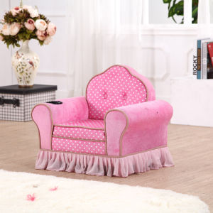 Pink Girl Crushed Velvet Sofa, Love Seat Fabric Sofa pictures & photos
