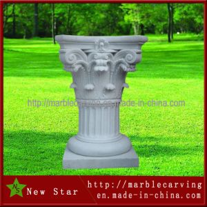 Classic White Stone Post Pedestal pictures & photos