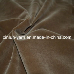 Sofa /Chair/Curtain Plain Velvet Flock Fabric pictures & photos