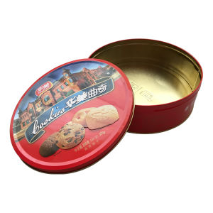 Famous Denmark Cookie Box Metal Tin Food Box for Cookie Biscuit Wholesale pictures & photos