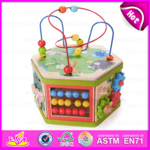 2015 Top Bright En71 Kids Activity Cube Maze Toy, Multifunctional Wooden Beads Maze Toy, Colorful 3D Around Beads Maze Toy W11b062 pictures & photos