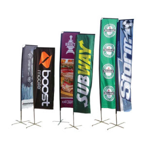 Outdoor Advertising Custom 10ft Beach Flag Banner pictures & photos