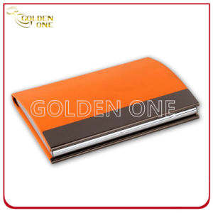 Multicolor Business Metal & Leather Name Card Case pictures & photos