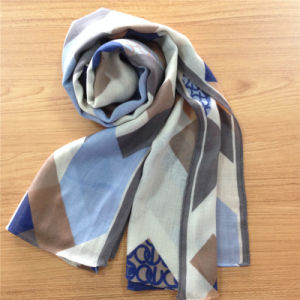 Printed Twill Wool Scarf for Winter pictures & photos