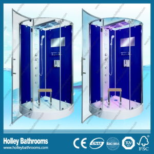 Dark Blue Color Reversible for Right or Left Door Opening Shower Cabin (SR218L) pictures & photos