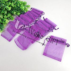 Purple Small Organza Gift Pouch Wholesale (COB-1102) pictures & photos