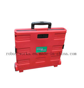 Folding Plastic Shopping Cart (FC403C-3-1) pictures & photos
