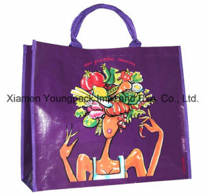 Heavy Duty Glossy Laminated PP Woven Shopper Carrier Bag pictures & photos