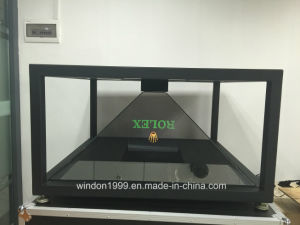 4 Sided 19 Inch Pyramid 3D Holographic Display Showcase pictures & photos