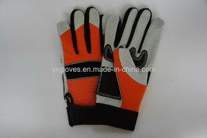Mechanic Glove- Silicon Glove- Safety Glove-Labor Glove-Work Glove-Leather Glove pictures & photos