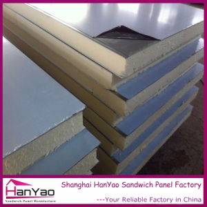 150mm Color Steel Polyurethane PU Sandwich Panel for Wall pictures & photos