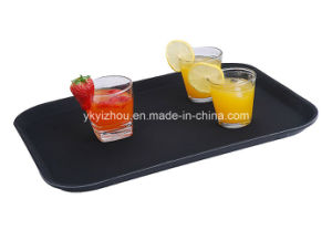 Waiters Cafe Black Super Non Slip Drink Food Serving Tray pictures & photos