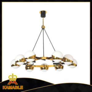 Modern Decorative Stainless Steel Glass Pendant Lamp (KAP6044) pictures & photos