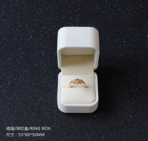 Wholesale White Velvet Ring Box pictures & photos