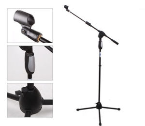 Black Microphone Stand for Professional Performance pictures & photos