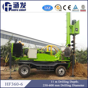 New Diesel, Hf360-6 Small Trailer Mounted Auger Drilling Rig for Piling pictures & photos