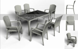 Mtc-032 Modern Garden Patio Furniture Dining Set pictures & photos