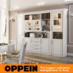 Oppein Modern Wooden Painting Office Book Cabinet (SG61525) pictures & photos