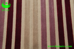 Stripe Velvet Sofa Fabric (BS4003) pictures & photos