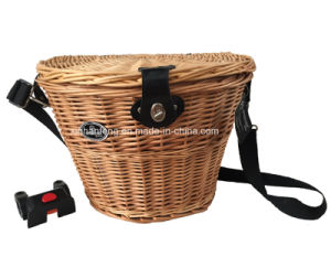 Oval Willow Bicycle Basket for Bike (HBG-149) pictures & photos