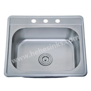 2522 Topmount Single Bowl Stainless Steel Kitchen Sink (6356) pictures & photos