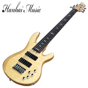 Hanhai Music / 6 Strings Electric Bass Guitar with Flame Maple Veneer (TRB-JP6) pictures & photos