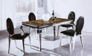 Marble Rectangle Cheap Restaurant Table and Chair pictures & photos