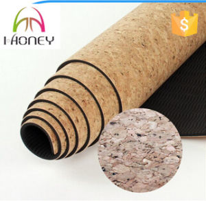 Colorful Design Printed Yoga Mat with Cork Top Layer pictures & photos