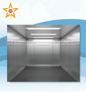 Freight Elevator with Hairline Stainless Steel Finish Xr-H04 pictures & photos