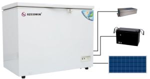 190L Solar Panel Charging Solar Deep Freezer for Home Use pictures & photos