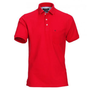 Cotton Pique Polo Shirt for Men with Needlework Logo pictures & photos