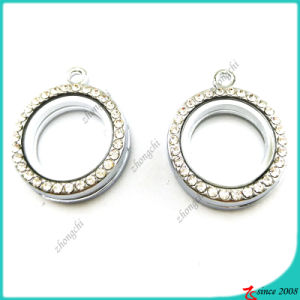 20mm Small Silver Round Locket with Crystal (FL16041940) pictures & photos