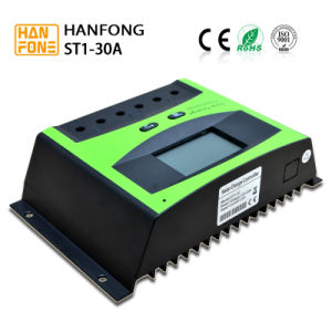 30A LCD 12V/24V 360W/720W PWM Solar Panel Adapter Charge Controller (ST1-30A) pictures & photos