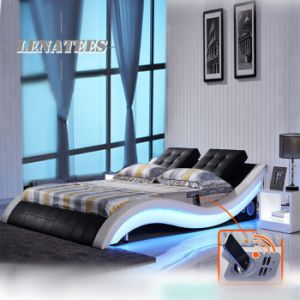 A021-1 Various Bedroom Furniture Modern Bed with Musical Player System pictures & photos