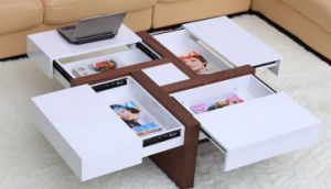 Functional Tea Table with 4 Extend Drawers (GC16-T03) pictures & photos