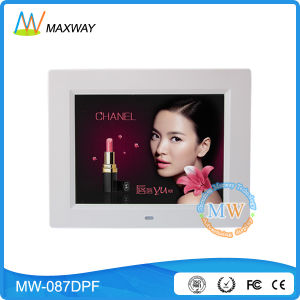 Super Slim 8 Inch Digital Photo Frame with Rechargeable Battery pictures & photos