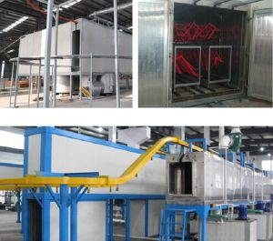 Rail Automatic Powder Coating Line with Tunnel Gas pictures & photos
