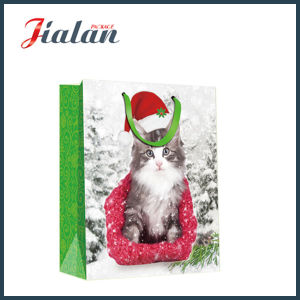 Dogs & Cats 4c Printed Christmas Gift Packing Shopping Paper Bag pictures & photos