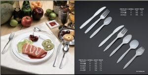 Barbecue Applied PP Plastic Fork, Knife and Spoon Jx121 pictures & photos