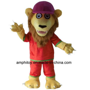 Red Dress Lion Animal Mascot Costume
